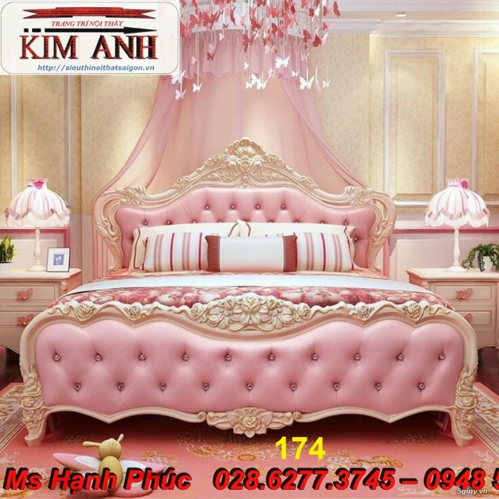 Đặt mua bộ giường ngủ cổ điển màu trắng cao cấp ms 263 giá rẻ tại xưởng, chiết khấu cao cho cửa hàng8