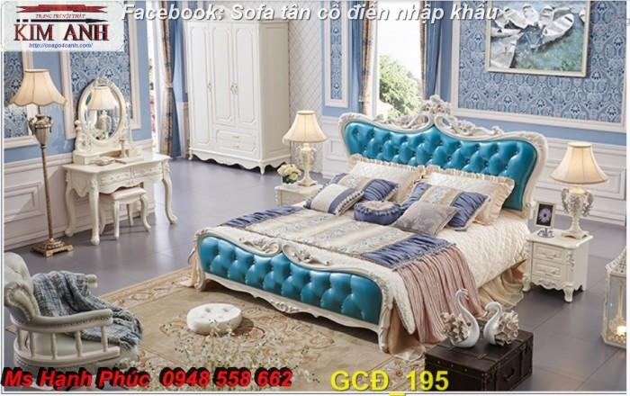 Đặt mua bộ giường ngủ cổ điển màu trắng cao cấp ms 263 giá rẻ tại xưởng, chiết khấu cao cho cửa hàng6
