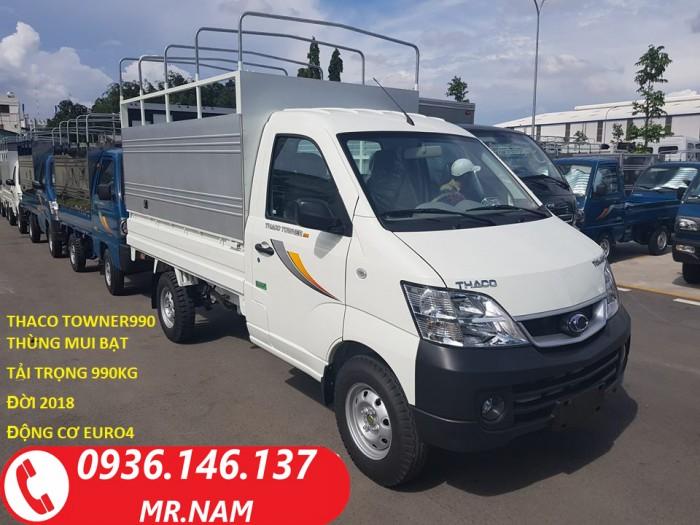 Bán xe tải nhẹ Thaco Towner990 tải trọng 900kg đời 2018. Hỗ trợ vay trả góp.
