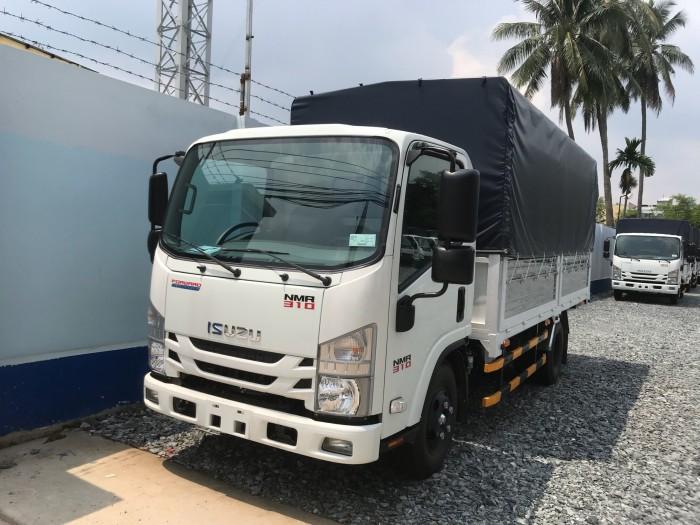Xe tải isuzu 1t9 thùng mui bạt - Trả trước 80 triệu giao luôn xe