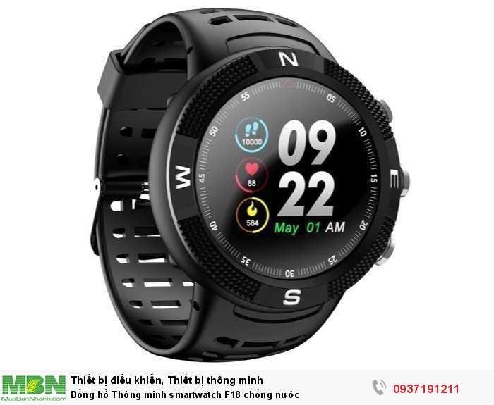 Đồng hồ Thông minh smartwatch F18 chống nước0
