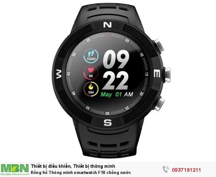 Đồng hồ Thông minh smartwatch F18 chống nước1