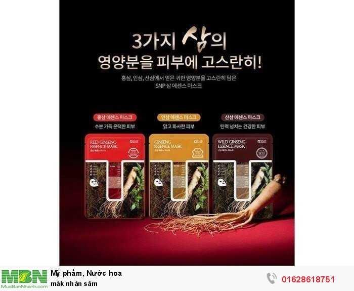 Mặt nạ nhân sâm xuất xứ 100% từ Hàn Quốc1