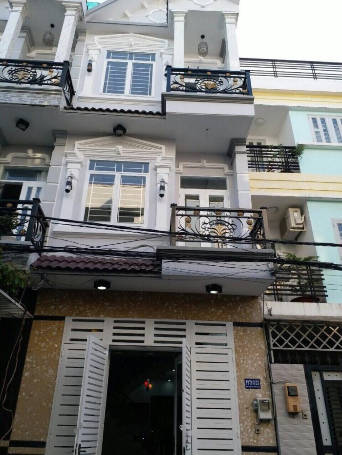 Nhà bán hẻm 1979, Huỳnh Tấn Phát, Nhà Bè, cách cầu Phú Xuấn 500m, DT 4m x 15m, 2 lầu, 4PN