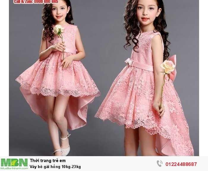 Váy bé gái hồng 10kg-23kg0