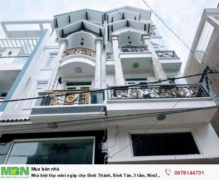 Nhà biệt thự mini ngày chợ Bình Thành, Bình Tân, 3 tấm, 96m2