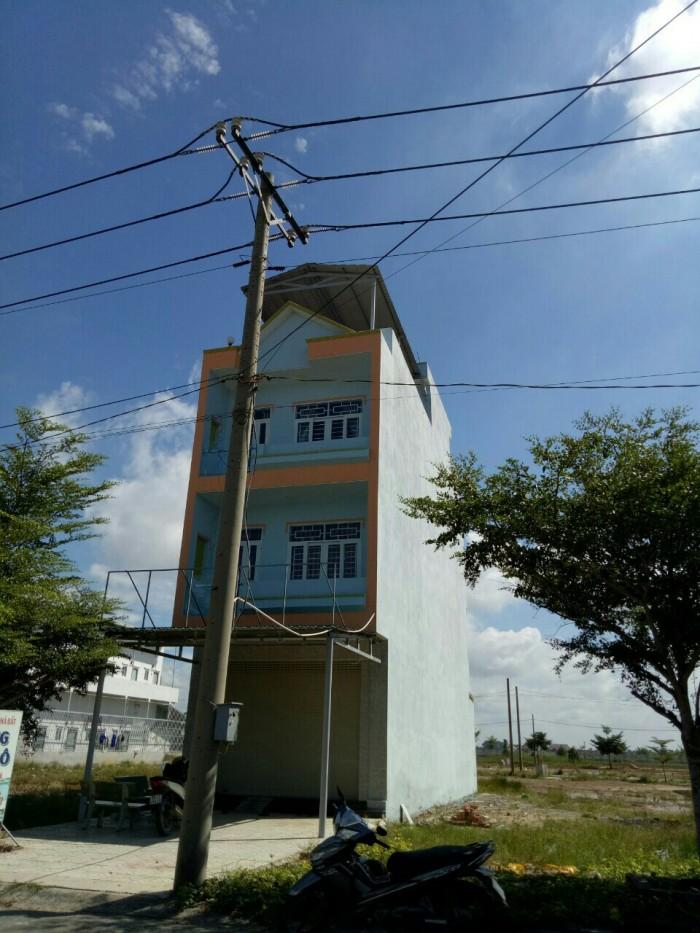 Bán nhà mặt tiền đường KDC Tân Đô, 2 lầu , dt 130m2