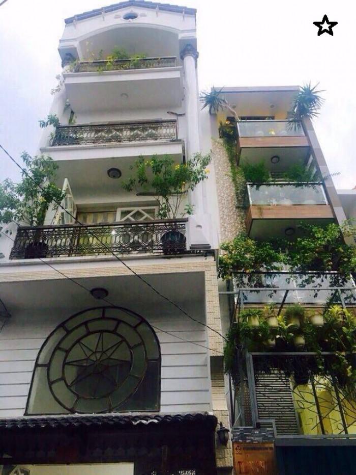 Nhà HXH Thích Quảng Đức,40m2,5 tầng