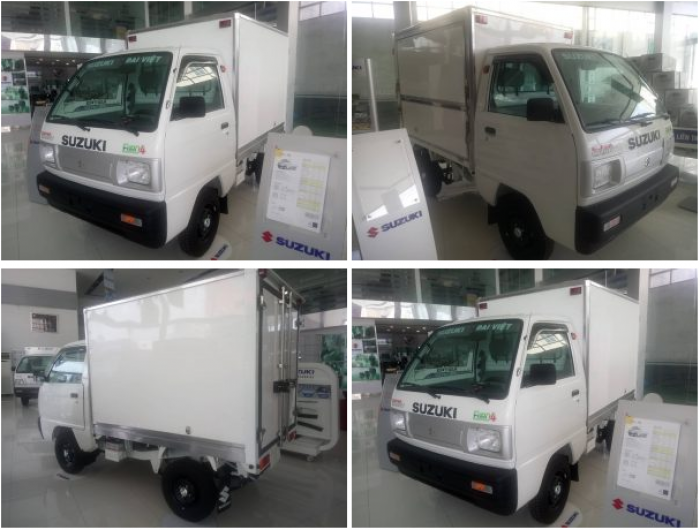 Xe tải suzuki truck thùng cánh dơi 2018