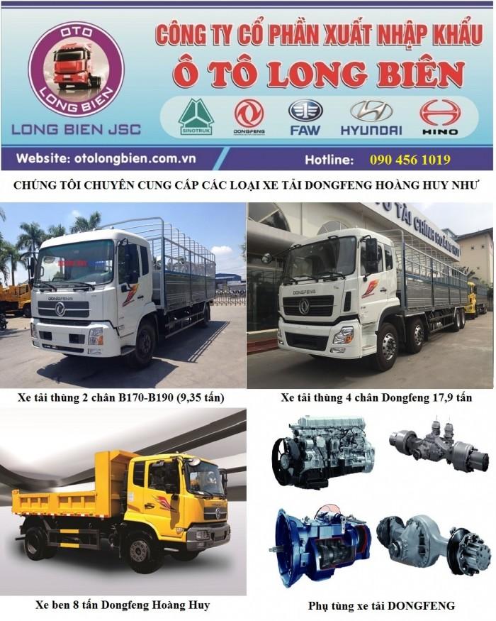 tải thùng 2 chân B170 tải trọng 9 tấn 35