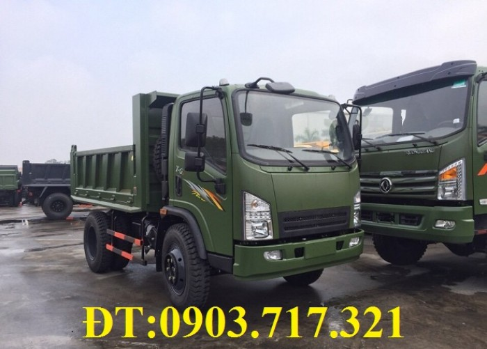 Xe ben DongFeng Trường Giang 5.7 tấn – 5700kg – 5T7 – 5t7 – 5m3 – 5 khối. Gía xe ben Trường Giang 5T7