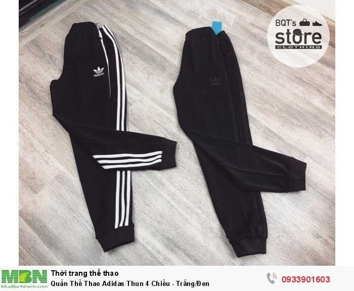 Quần Thể Thao Adidas Thun 4 Chiều - Trắng/Đen0