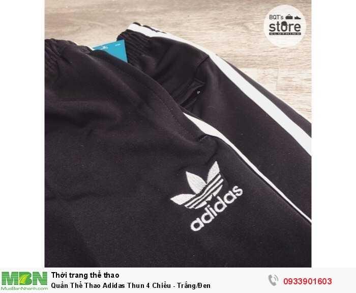 Quần Thể Thao Adidas Thun 4 Chiều - Trắng/Đen1