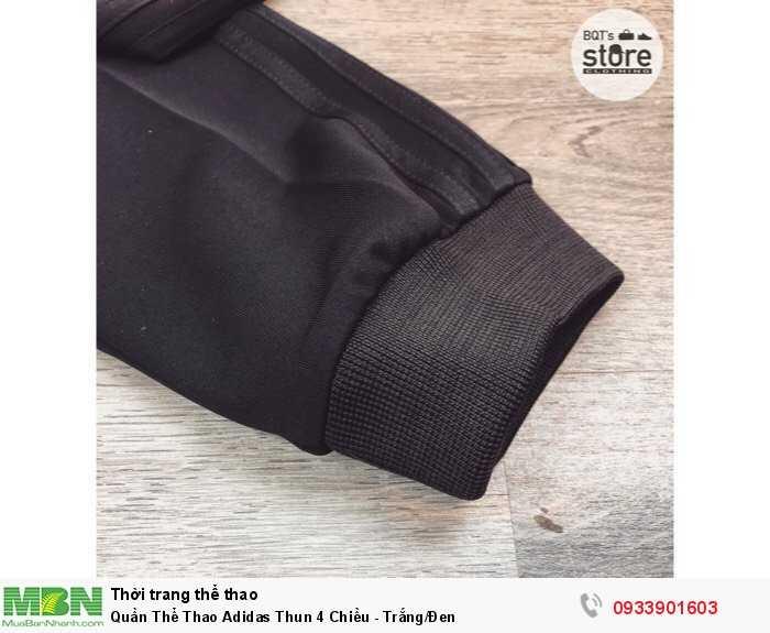 Quần Thể Thao Adidas Thun 4 Chiều - Trắng/Đen2