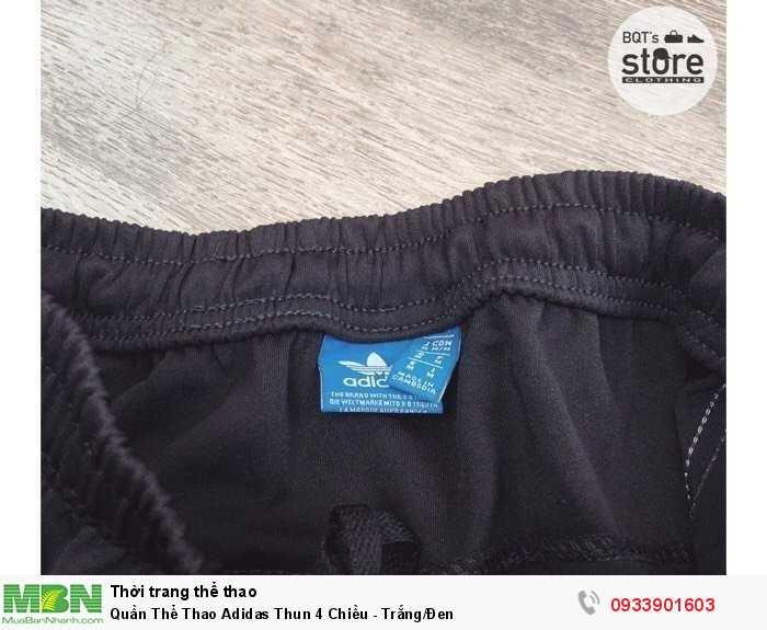 Quần Thể Thao Adidas Thun 4 Chiều - Trắng/Đen4