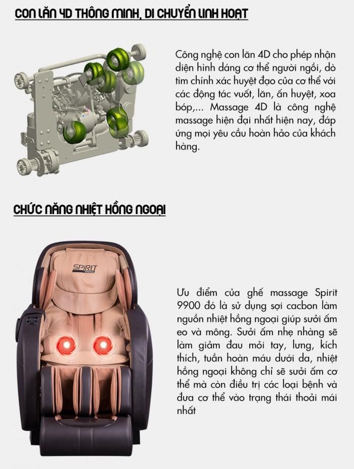 Ghế massage Buheung Spirit 9900 NEW - Gymaster8