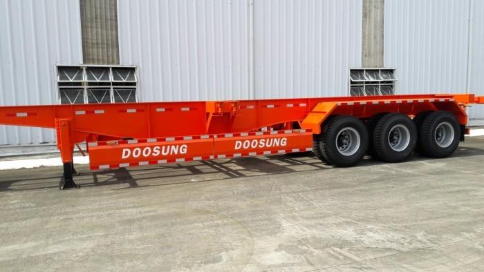 Hàng về 5 em  Mooc Xương Doosung 40 Feet, 3 trục, tải trọng 33.5 tấn,có sẵn,giao ngay.