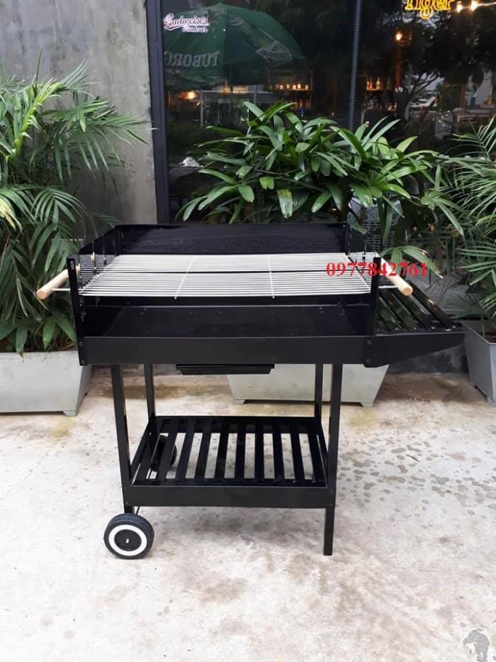 Bếp nướng sân vườn khung thép, bếp nướng than hoa acter tree Ck3502