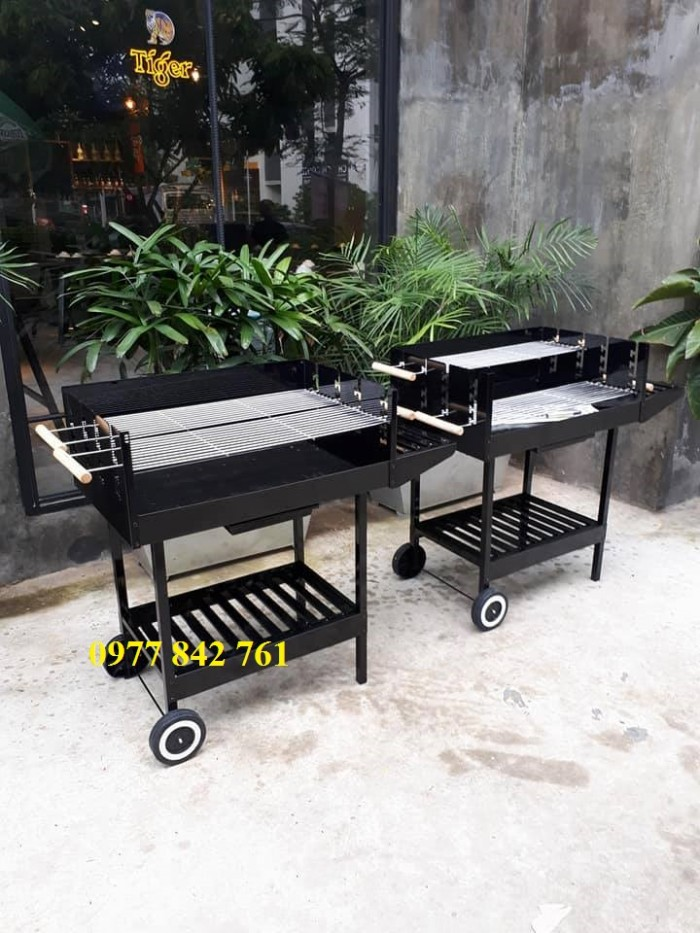 Bếp nướng sân vườn khung thép, bếp nướng than hoa acter tree Ck3500