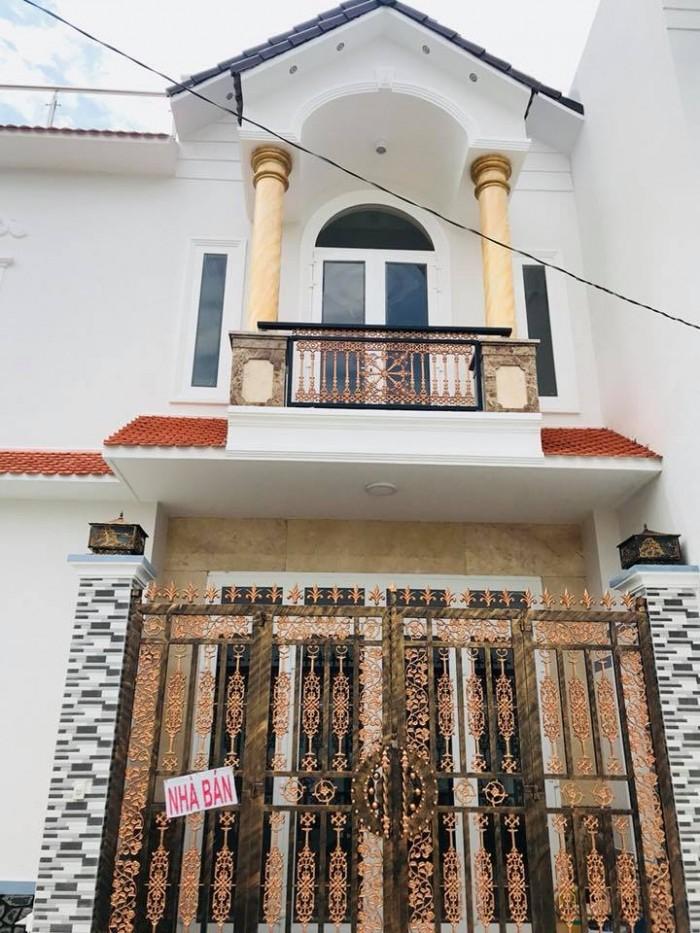 Bán nhà mới 1 trệt 1 lầu đối diện chợ bà bộn đường Nguyễn Văn Linh