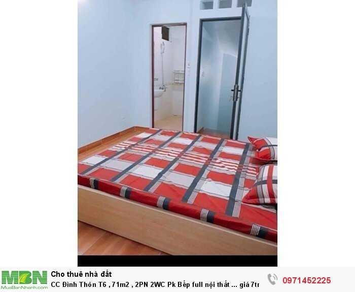CC Đình Thôn T6 , 71m2 , 2PN 2WC Pk Bếp full nội thất ...