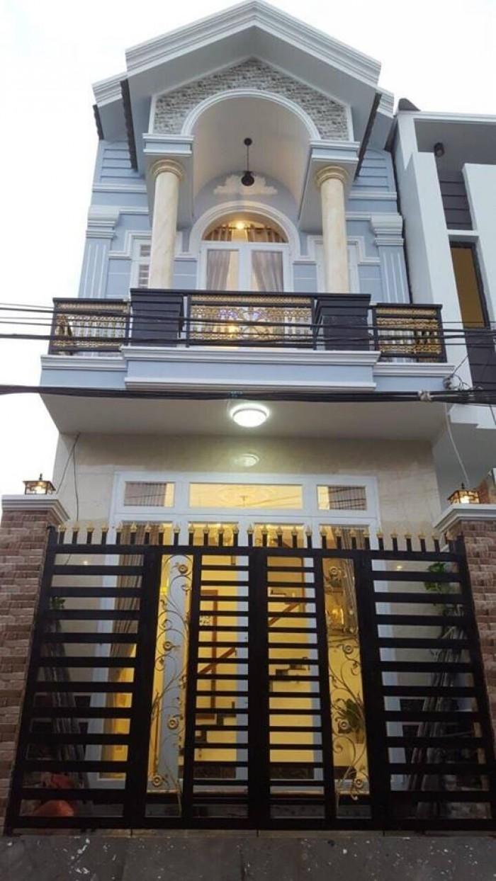 Bán nhà 1 trệt 1 lầu, mới xây, khu dân cư Hạnh Phúc đường Nguyễn Văn Linh