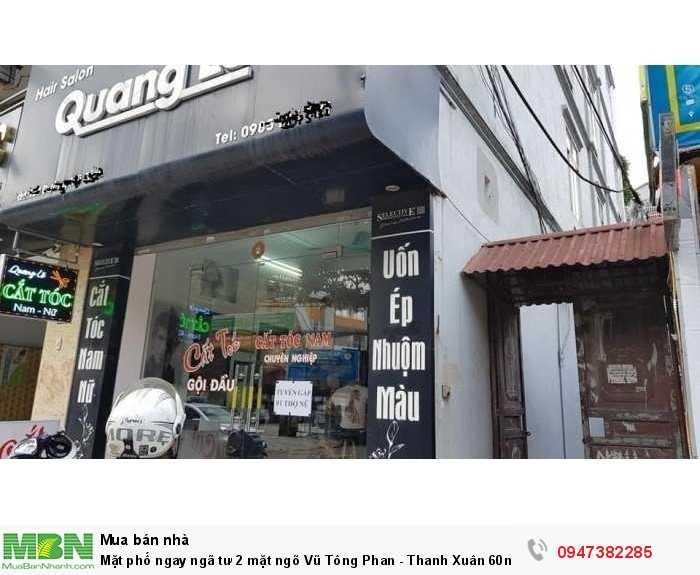 Mặt phố ngay ngã tư 2 mặt ngõ Vũ Tông Phan - Thanh Xuân 60m2 mặt tiền 6m