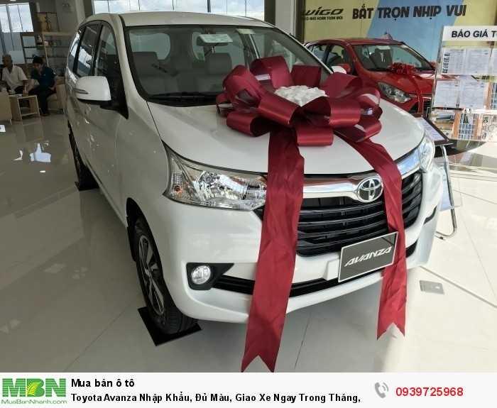 Toyota Avanza Nhập Khẩu, Đủ Màu, Giao Xe Ngay Trong Tháng, Trả Trước 150tr Nhận Xe