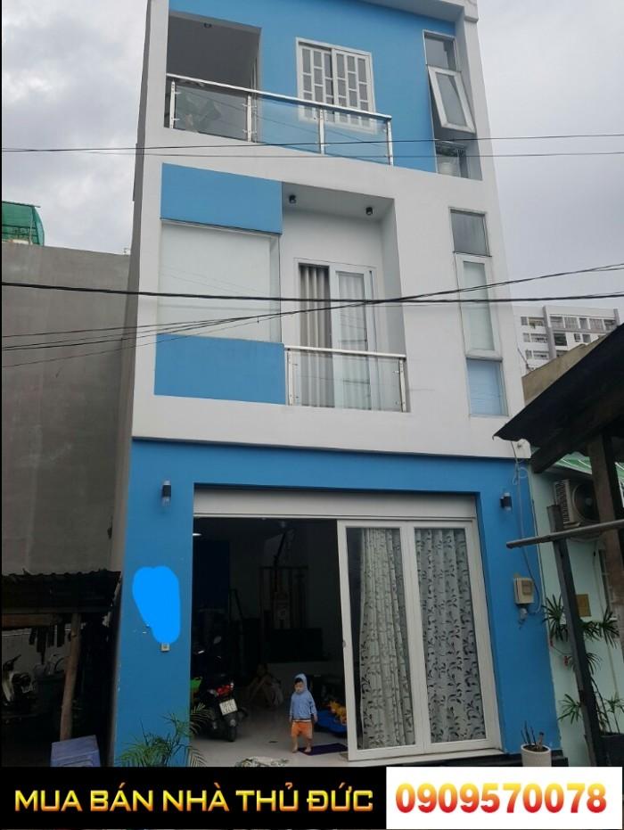 Nhà 1 trệt 2 lầu HXH đường 22 Linh Đông