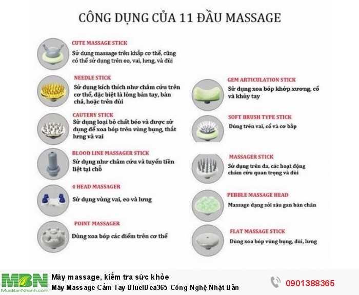 Máy Massage Cầm Tay BlueiDea365 Công Nghệ Nhật Bản