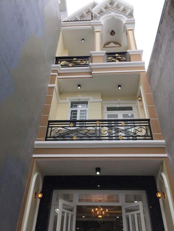 Bán nhà đường Huỳnh Tấn Phát, Nhà Bè, ngay kho B. 2 lầu, sân thượng DT 100m2