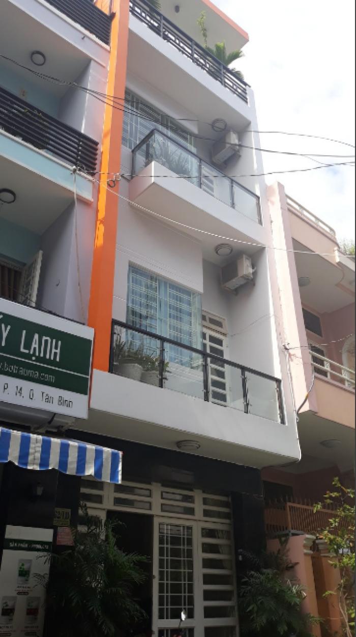 Bán nhà mặt tiền Bàu Cát 5, Tân Bình, DT: 4x18m, 3 lầu