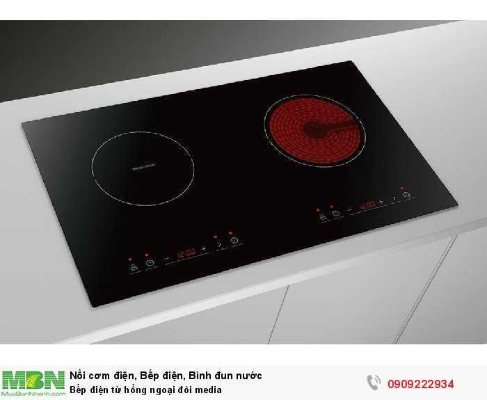 Bếp điện từ hồng ngoại đôi media0