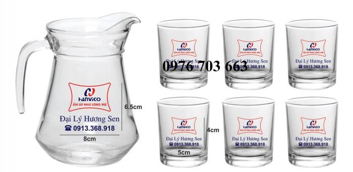 Cung cấp ly thủy tinh giá rẻ, bình thủy tinh in logo1