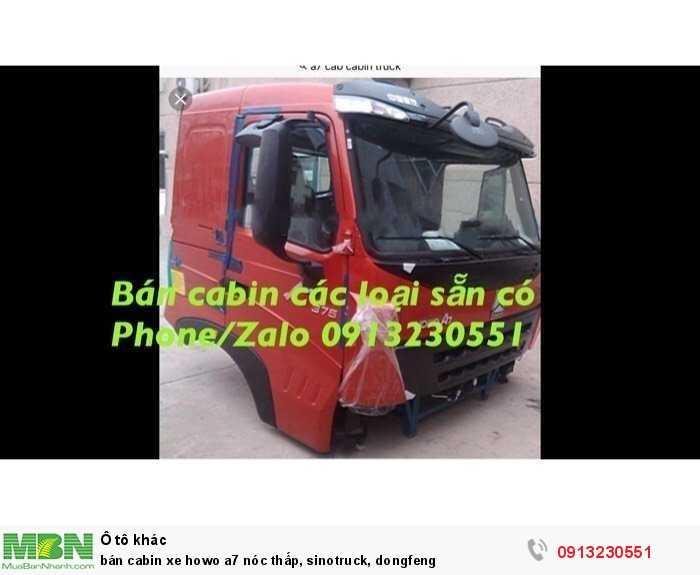 Bán cabin xe Howo a7 nóc thấp, Sinotruck, Dongfeng