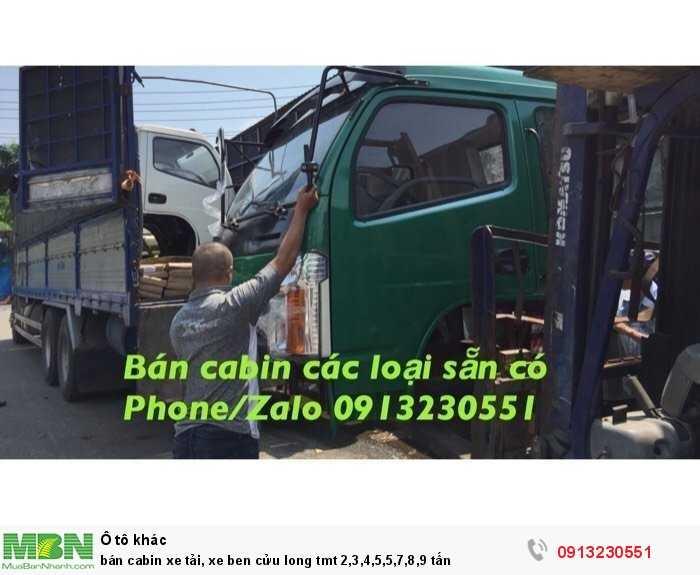 Bán cabin xe tải, xe ben cửu long tmt 2,3,4,5,5,7,8,9 tấn
