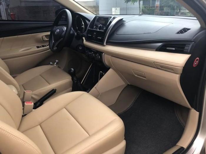 Bán Toyota Vios E 2017 vàng cát số sàn ít đi. 3