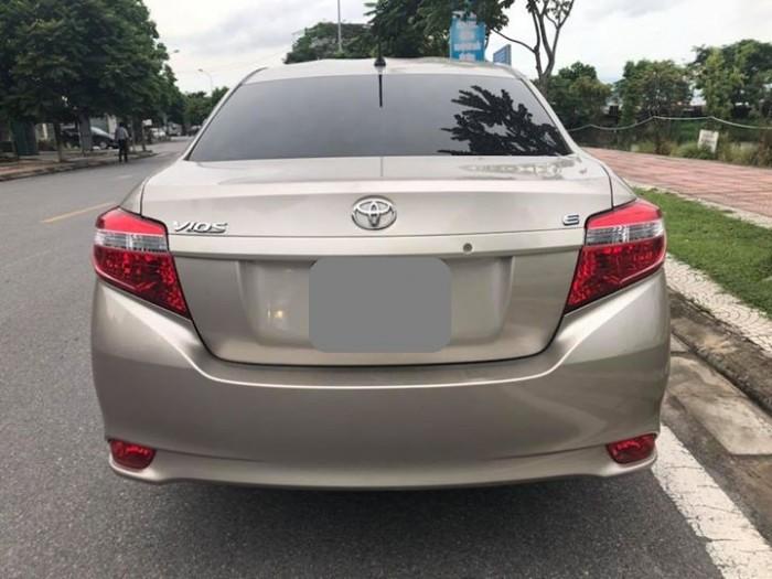 Bán Toyota Vios E 2017 vàng cát số sàn ít đi. 1