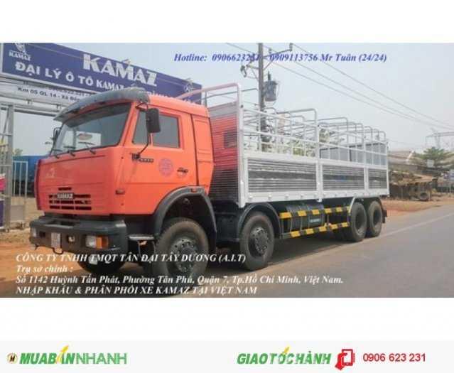 Tải thùng 4 giò Kamaz, Kamaz thùng 30 tấn, Bán xe tải thùng kamaz 4 chân dài 9m 1