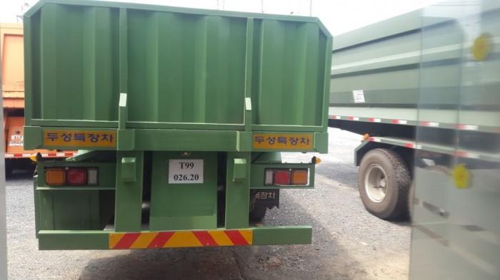 Sơ mi rơ moóc tải (chở thép ống, thép thanh),SMRM Mooc sàn Rút 14.3 m - 21.3m.