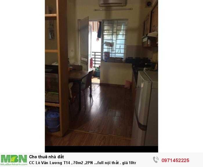 CC Lê Văn Lương T14 , 70m2 ,2PN ...full nội thất