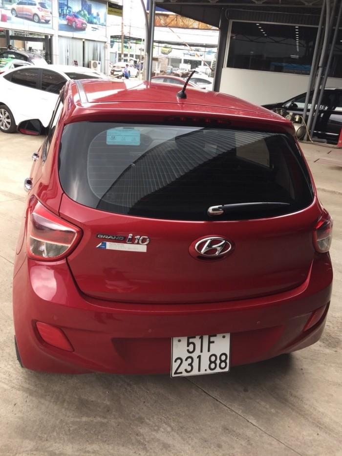 Bán Hyundai Grand i10 1.0MT bản 5 cửa gia đình nhập Ấn Độ 2015 biển Sài Gòn màu đỏ số sàn 3
