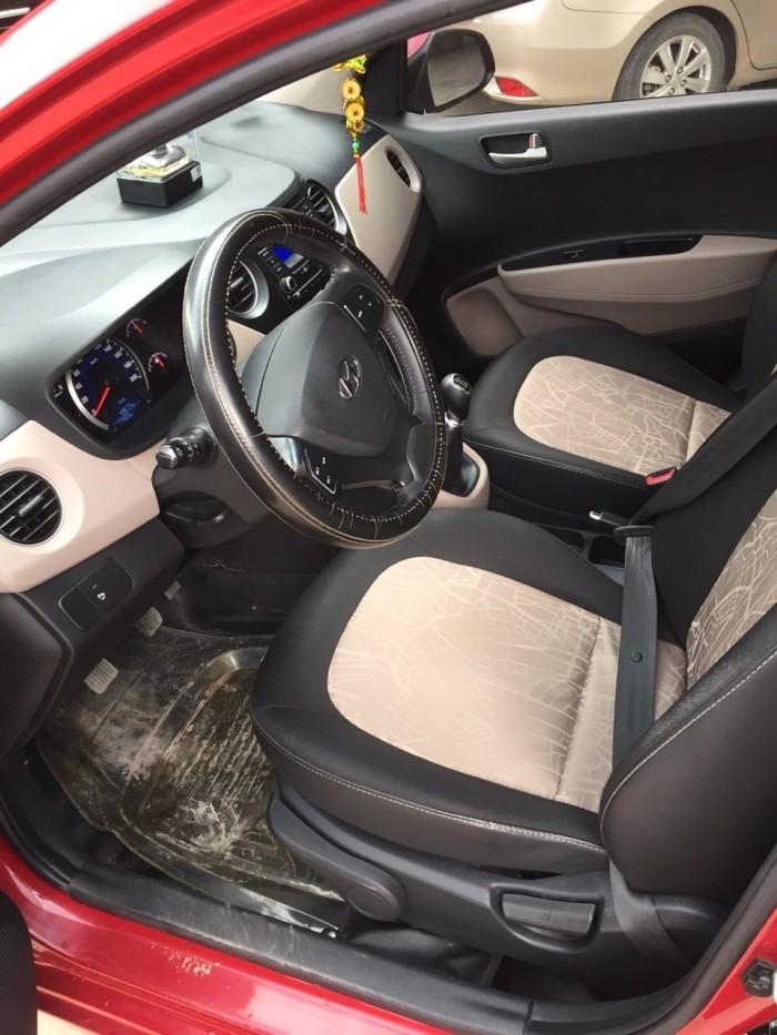 Bán Hyundai Grand i10 1.0MT bản 5 cửa gia đình nhập Ấn Độ 2015 biển Sài Gòn màu đỏ số sàn 1
