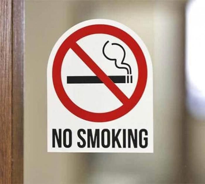 Biển cấm hút thuốc bằng các loại chất liệu theo yêu cầu9