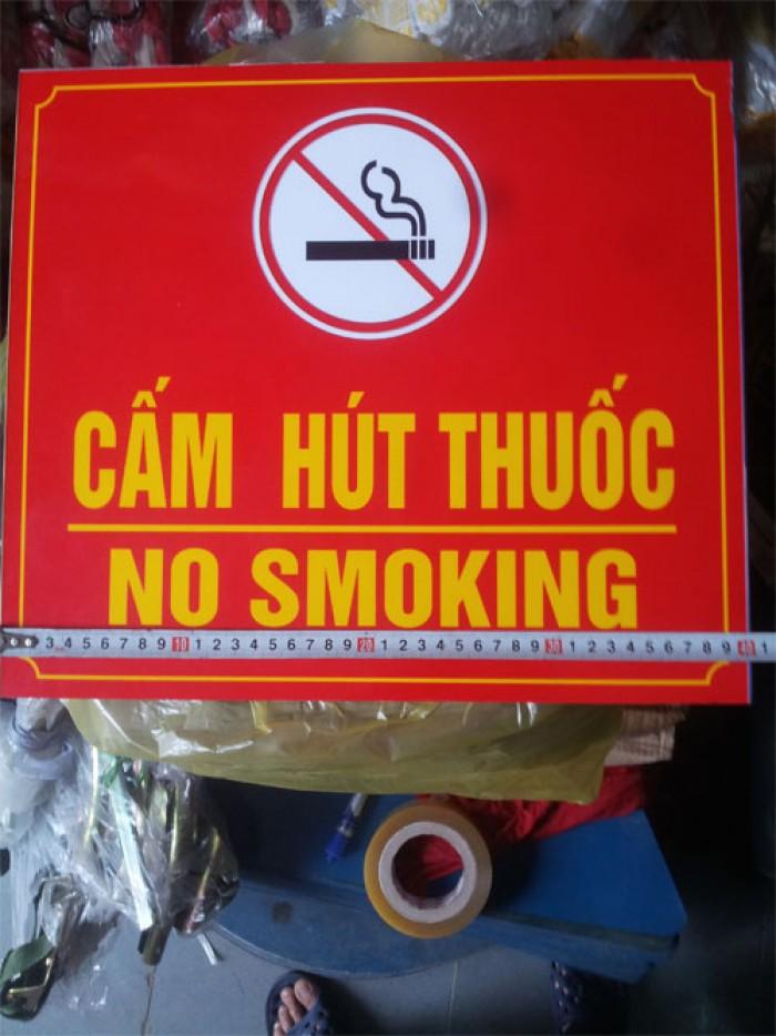 Biển cấm hút thuốc bằng các loại chất liệu theo yêu cầu2