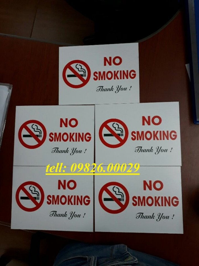 Biển cấm hút thuốc bằng các loại chất liệu theo yêu cầu3