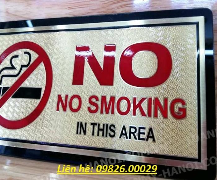 Biển cấm hút thuốc bằng các loại chất liệu theo yêu cầu5