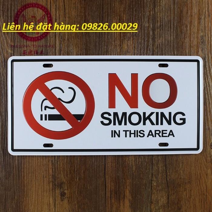 Biển cấm hút thuốc bằng các loại chất liệu theo yêu cầu4