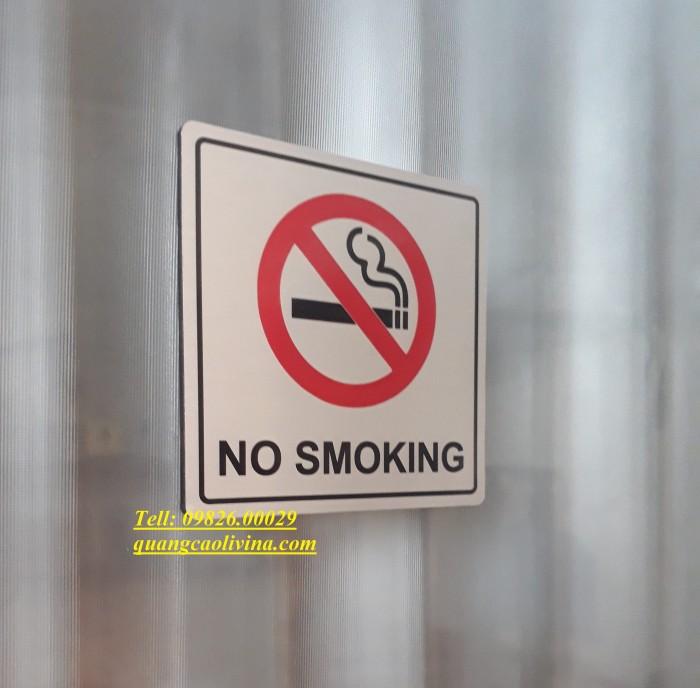 Biển cấm hút thuốc bằng các loại chất liệu theo yêu cầu1