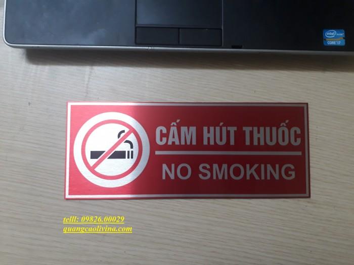 Biển cấm hút thuốc bằng các loại chất liệu theo yêu cầu0
